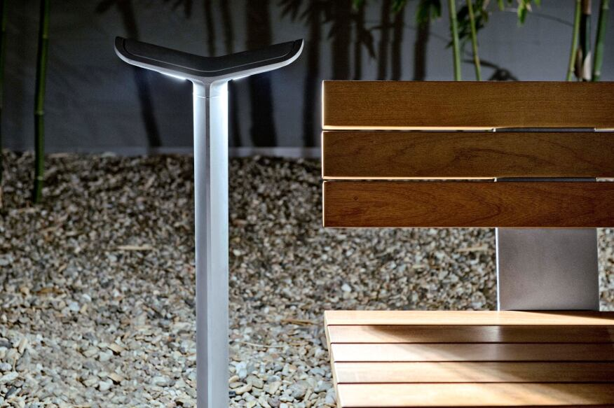 Landscape Forms' MultipliCity LED bollard.