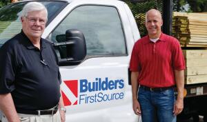 On the Move: Morris Tolly, SVP of operations (left) and Chad Crow, SVP and CFO, say the housing downturn has ended for Builders FirstSource.