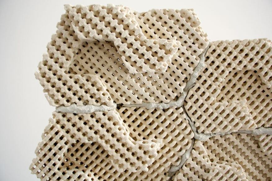 Emerging Object's 3D-printed Cool Brick is a porous masonry unit that naturally cools the air as it passes through.
