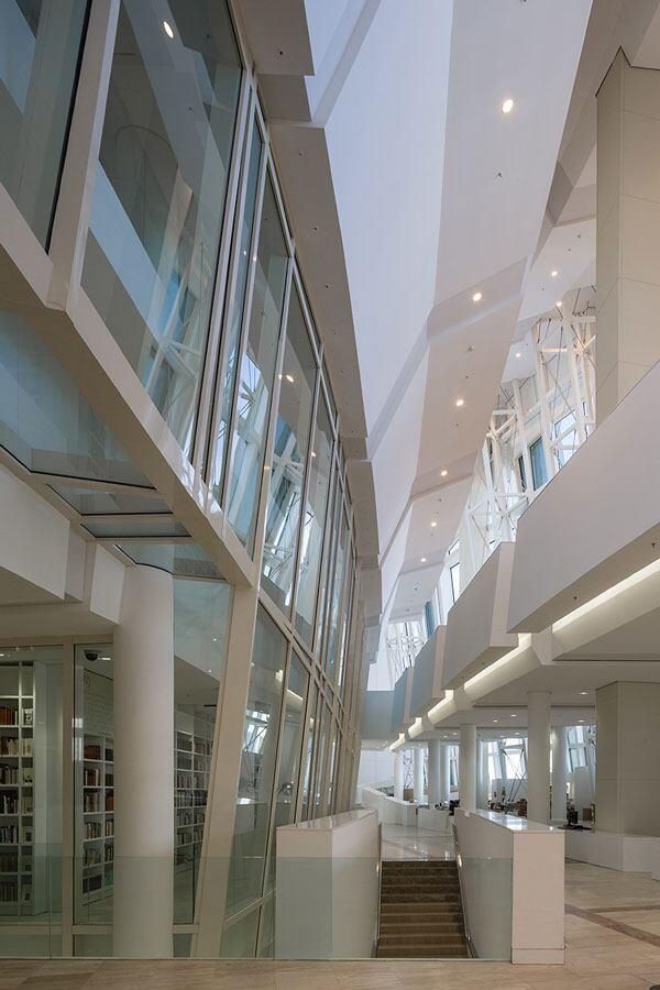 An interior image of the library.