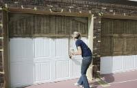 Staining Steel Garage Doors to Look Like Wood
