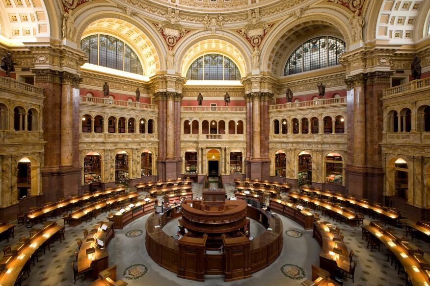 Reading Room, Library of Congress, Washington, D.C.