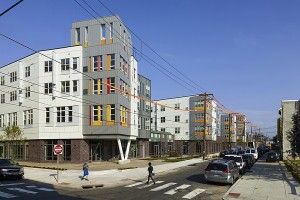 The 120-unit development was the first in the United States to earn LEED