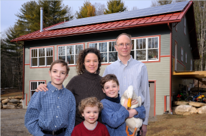 The Torcellini family of Eastford, Conn., was one of the winners of the 2015 Connecticut Zero Energy Challenge.