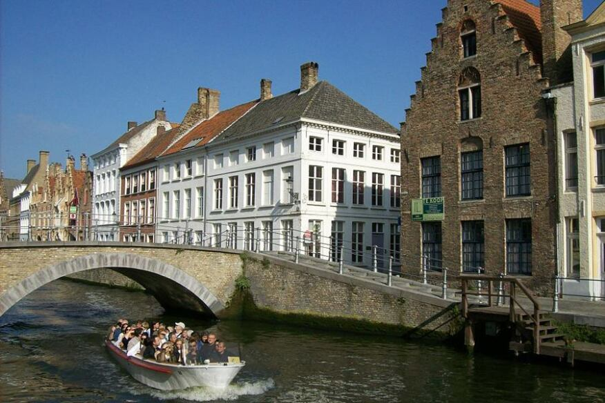 Canal in Bruges, Belgium. Taken in October 2010.