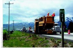 Milling can be carried out while a road or highway is kept open to traffic.