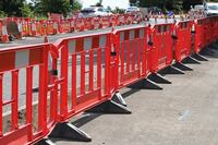 Safety zone barriers