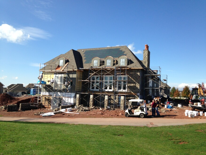 High Performance Homes first net-zero model home in The Links at Gettysburg will open in November 2014. Courtesy High Performance Homes.