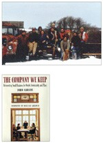 South Mountain Co. on its 1986 holiday card, above. Abrams recounts its journey of growth and sustainability in his 2005 book, The Company We Keep.