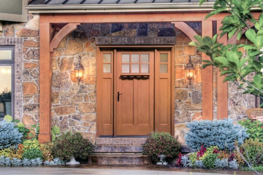 Fiberglass sidelights for entry doors jlc online doors for Therma tru classic craft american style collection