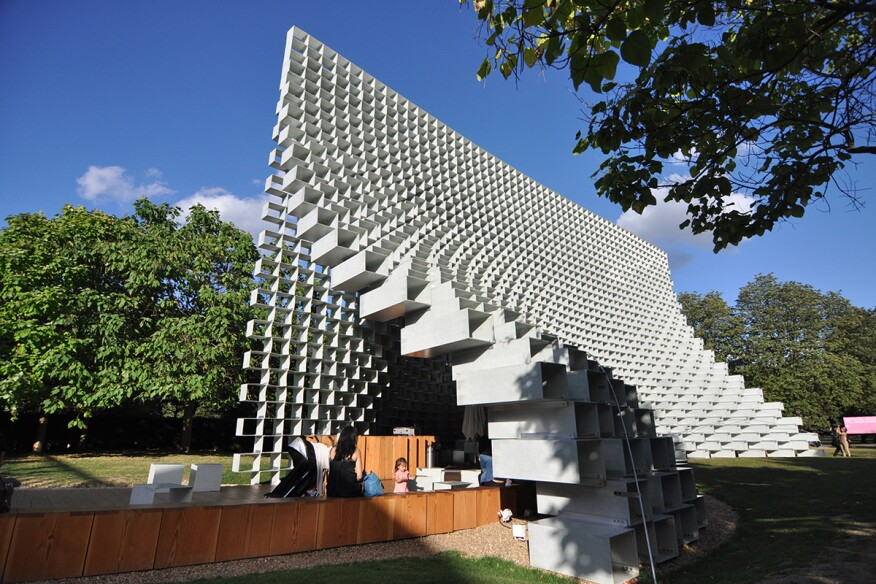 The 2016 Serpentine Gallery Pavilion in London, designed by Bjarke Ingels Group (BIG)