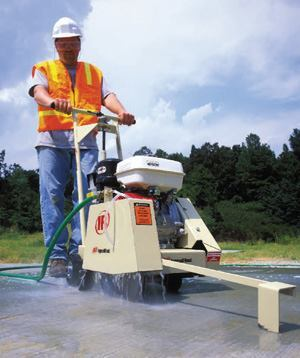 Ingersoll Rand's WS series walk-behind saws are used for pavement joints, as well as short-run slab cutting.