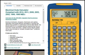 ElectriCalc Pro – world's most complete electrical calculator solves electrical/wiring problems