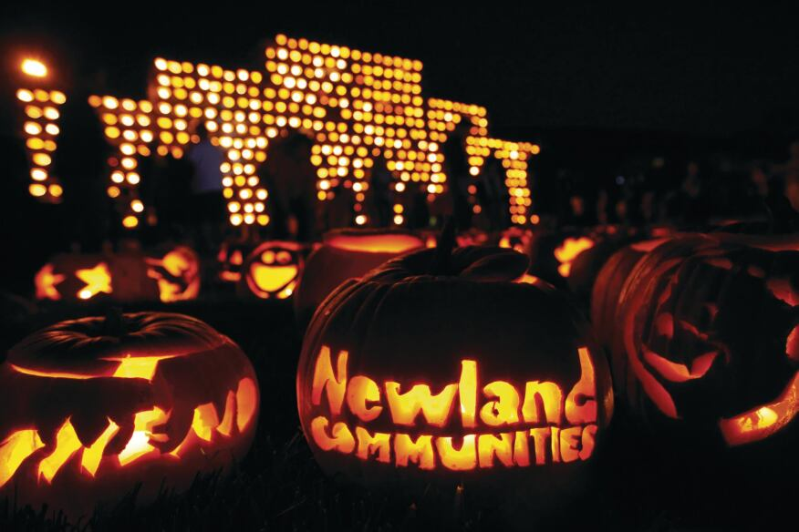 Coast-to-Coast Jack-O-Lanterns Lit pumpkins filled 15 Newland communities in seven states for a fundraiser.