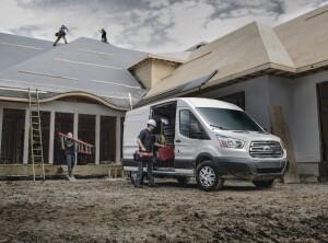 Ford's Transit van on the jobsite
