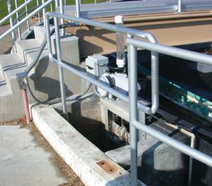The Englewood Wastewater Treatment Plant in Ohio uses automated weir gates to efficiently remove scum from influent channels.