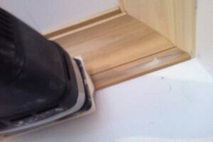 How to Power Sand Crown Molding and Custom Trim Prep