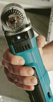 Makita's LED light is handy for dark spots between joists or inside a cabinet.