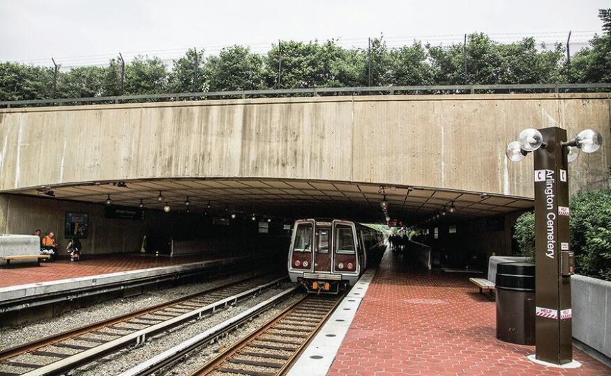 The Arlington Cemetery station in Virginia.