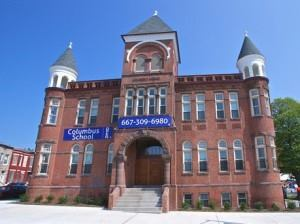 The Woda Group has completed the historic renovation of the Columbus School, which was built in 1891, in Baltimore. The vacant building had been in a state of disrepair and a source of blight for the neighborhood. But now it has been transformed into 50 units of affordable family housing and an education center.