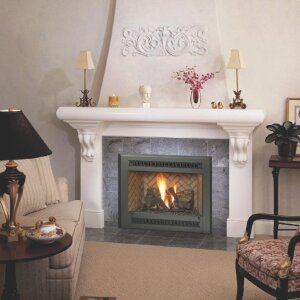 Manufacturer photoFireplace Xtrordinair. The 564 SS Space Saver gas fireplace offers consistent radiant and convective heat in reduced dimensions ideal for zone heating in bedrooms, dens and smaller spaces.