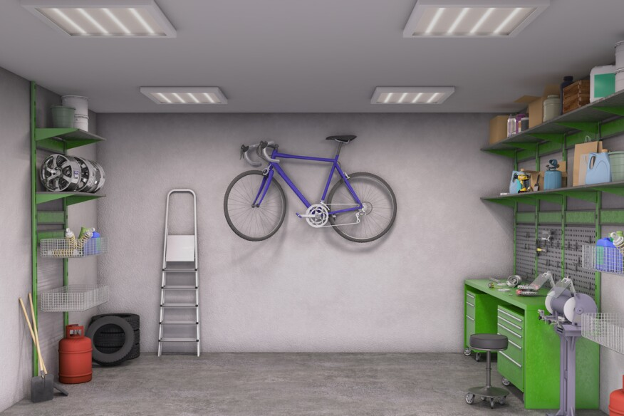 Turn your client 39 s garage into a savvy storage space remodeling garage garages tool boxes - Space saving garage shelves ideas must have ...
