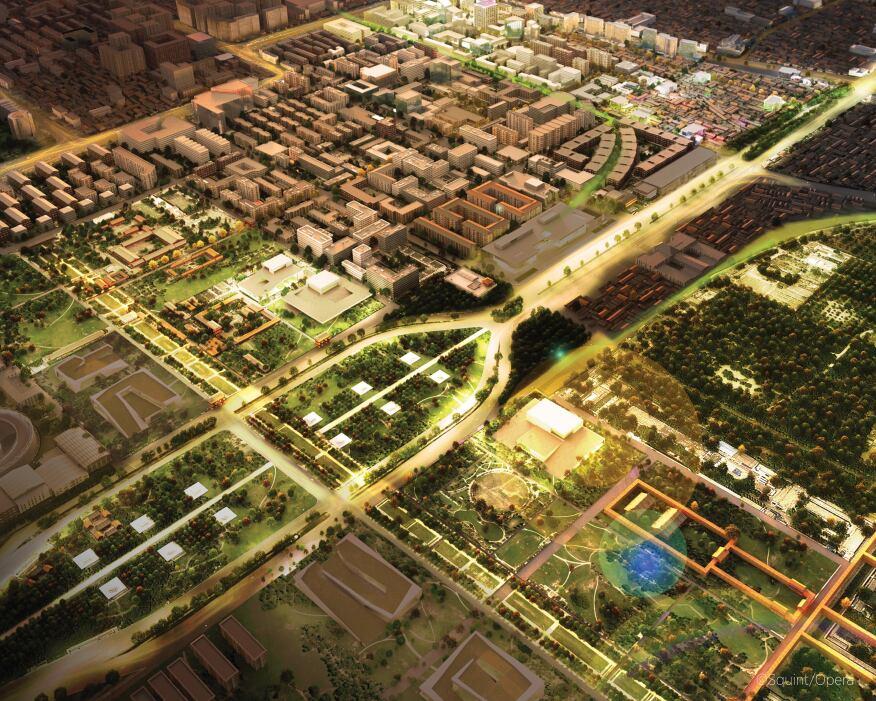 Beijing Tianqiao Performing Arts District Master Plan, Skidmore, Owings & Merrill, Beijing