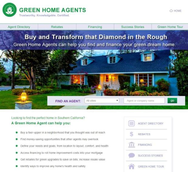 California Home Buyers Connect with Green Real Estate Agents