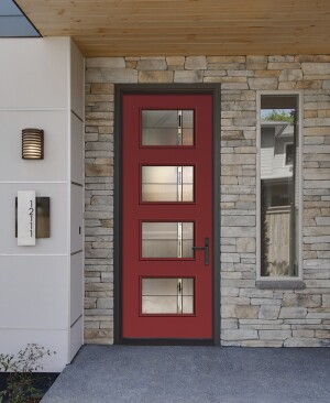 Therma-Tru is finding success with modern panel doors.