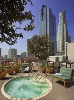 A hot tub may seem passé, but it's a novelty in downtown Los Angeles, where this one sits atop the Metro 417 apartment building.