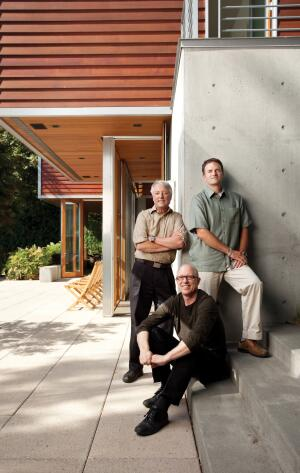 Design principals Robert Hull, David Miller (seated), and Craig Curtis.