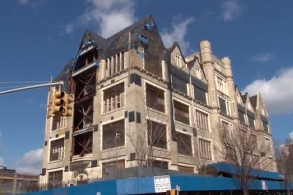 """Former Public School 31, 425 Grand Concourse, at East 144th Street, nicknamed """"the Castle on the Concourse"""""""
