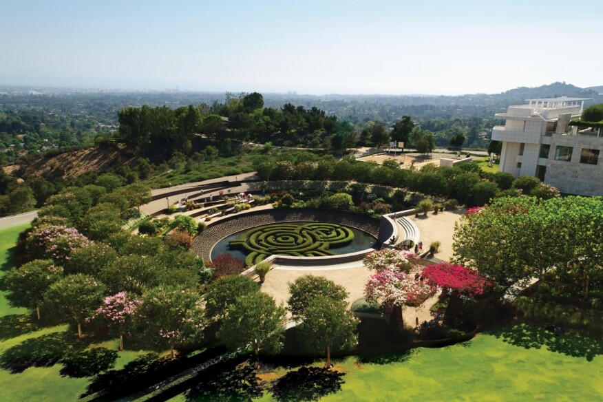 The Getty Center's Central Garden, which was designed by Irwin