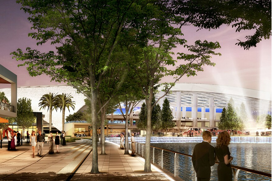 The development includes a mix of entertainment and retail venues.