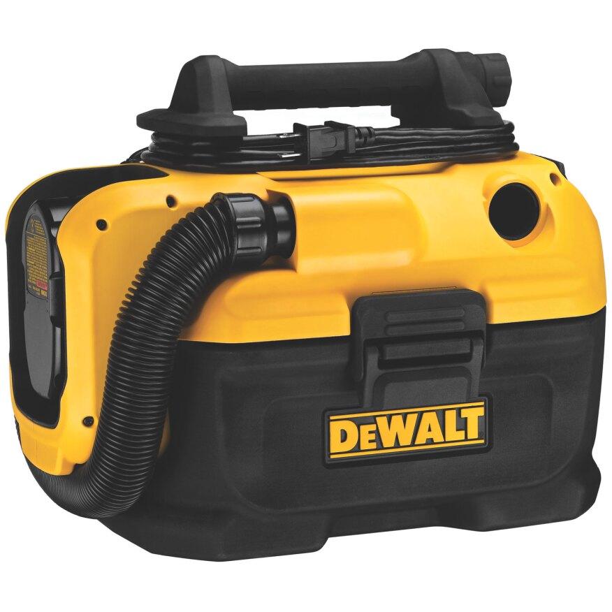 DeWalt portable, dual-power supply wet-dry vac