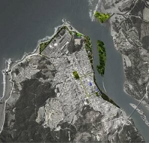 Aravena's plan for Constitución, Chile.