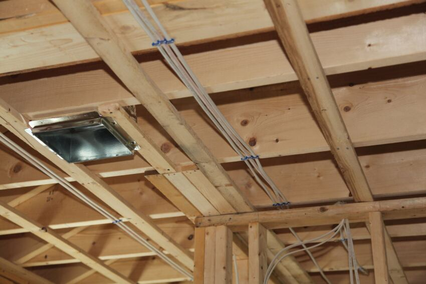 Strapping ceilings jlc online for Attach wire to wall