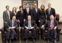 (back row, left to right) Robert S. Cappy, chief financial officer; Sara E. Bleier, partner; Sharon Kurtz, partner; Jonathan D. Stein, operating partner; Joseph Tricarico, president, Roseland Contractors; Brenda Cordova, president, Residential Services; Ivan M. Baron, partner/general counsel; (front row, left to right) Bradford R. Klatt, managing partner; Marshall B. Tycher, managing partner; Carl J. Goldberg, managing partner Dan Epstein