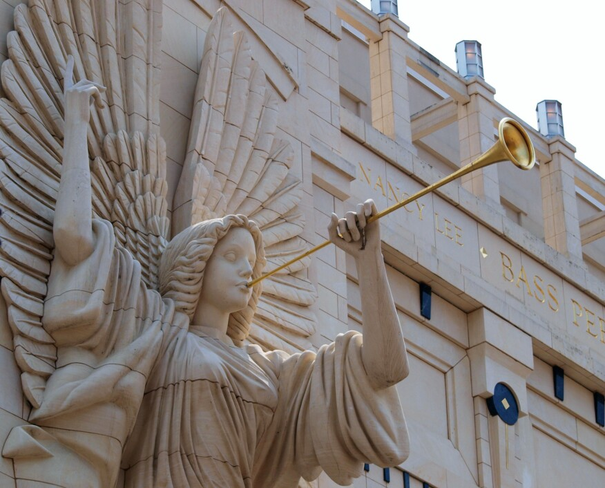 One of the angels that adorn Bass hall