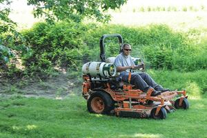 The switch to propane-powered mowers
