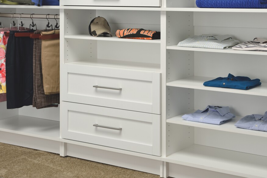 Build american homes with these american made products for Woodtrac closets
