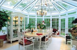 Year-round sunrooms are constructed to be energy efficient to allow for use in more than just warm months.