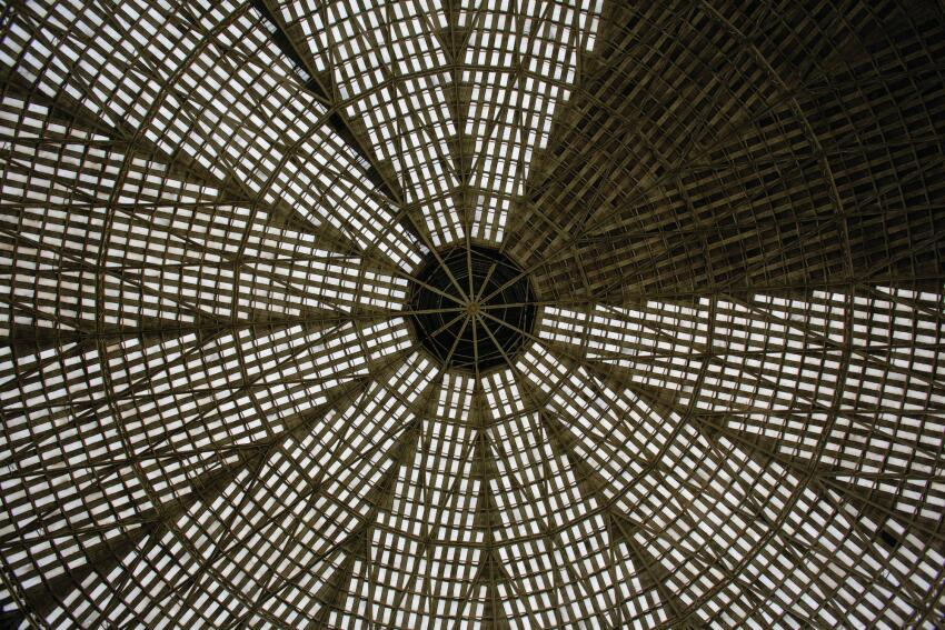 An interior image of the dome roof.