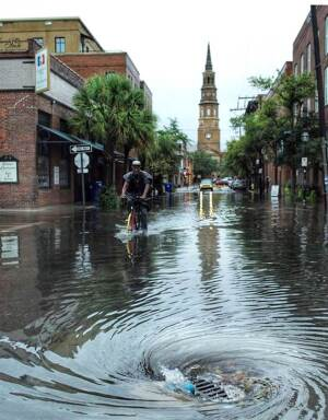Tropical Storm Erika Flooding Charleston