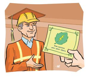 $500 to $3,500  Annual cost for getting a single employee certifi ed. The type of certifi cation, training, and other fees will determine how much you can expect to pay. More details on costs and training can be found at BPI.org and RESNET.us.