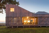 An Energy-Efficient, Angular Wooden House in the Czech Countryside