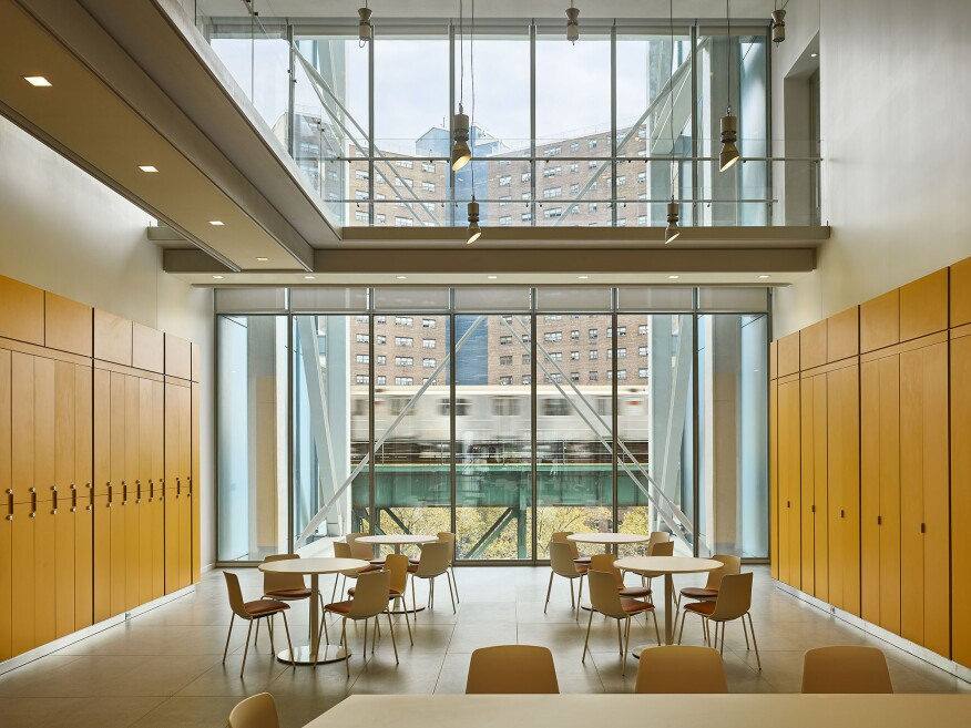 Jerome L. Greene Science Center, Columbia University Manhattanville Campus. Designed by Renzo Piano Building Workshop, with Davis Brody Bond (executive architect).