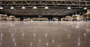Much of the 388,800 square feet of space at the Bartle Hall convention center in Kansas City, Mo., has polished concrete floors.