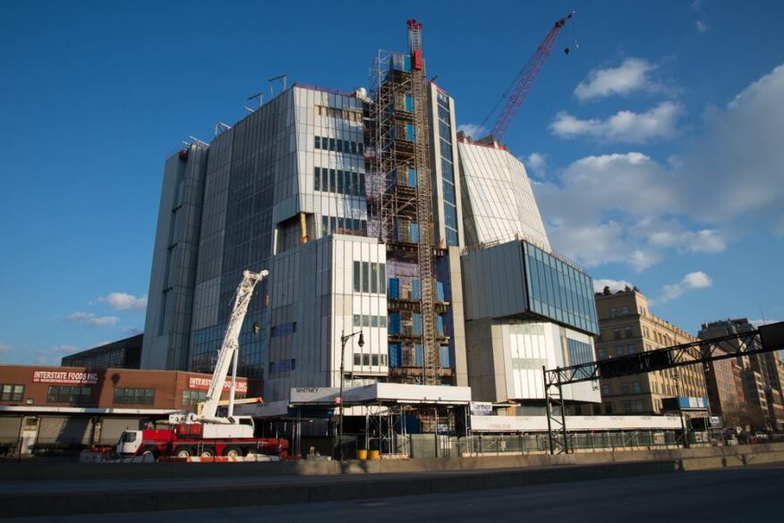 The new Whitney under construction in the spring.