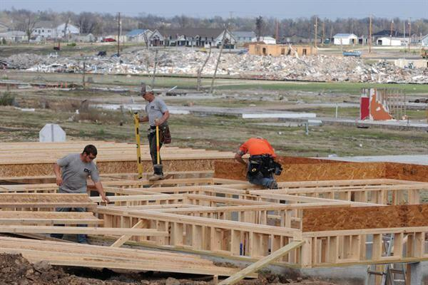 Rebuilding in Joplin, Mo., in the wake of a category 5 tornado in 2011.